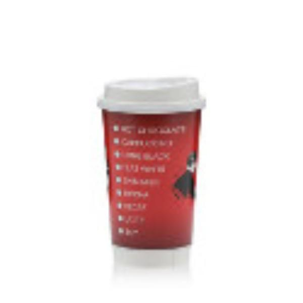 CUP 16oz COFFEE RED OR MATT BLACK ER PK 25 (CTN 500)