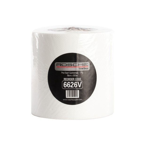 TOWEL CENTRE FEED ROSCHE 300m (PACK 4 ROLLS)