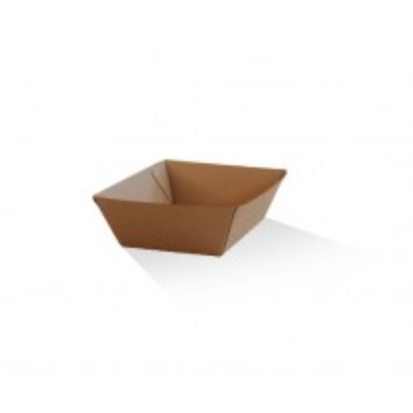 TRAY SMALL CORRUGATED (1) BROWN 130X91X50  PK50   CTN 500)