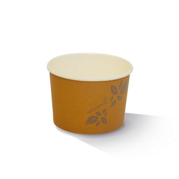 BOWL 8oz PAPER BROWN PLA PK50   (CTN1000) GREENMARK
