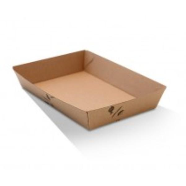 TRAY X-LARGE CORRUGATED (5) BROWN 252x179x58  PK50   (CTN100)