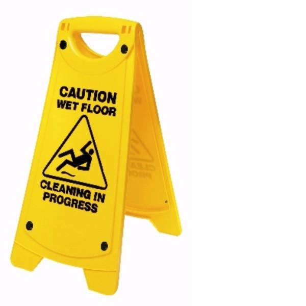 SIGN A FRAME CAUTION WET/FLOOR-CLEAN IN OATES