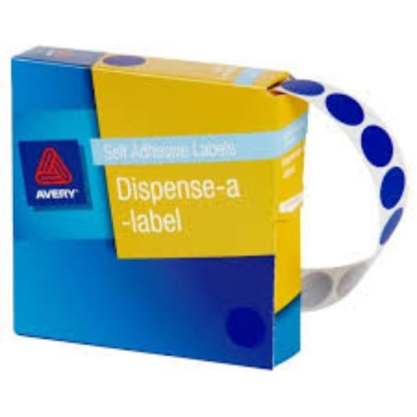 LABEL 14MM BLUE BOX 500 EACH GEN/STAT