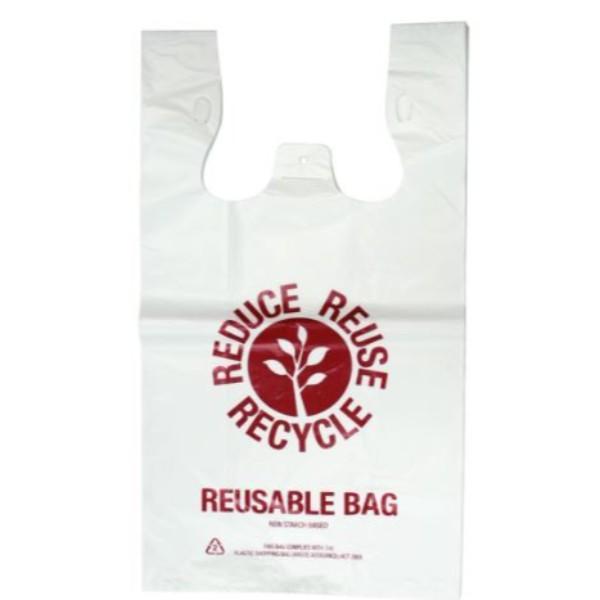 BAG SINGLET 35UM RE-USE WHITE LARGE PK50 (CTN500) 540x300+160