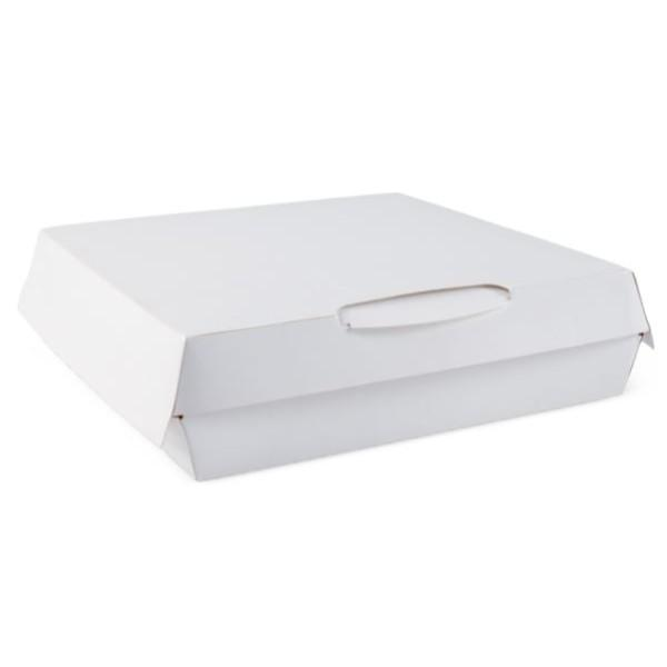 BOX CLAM PIZZA 165x165x40 WHITE PK25  (CTN175)