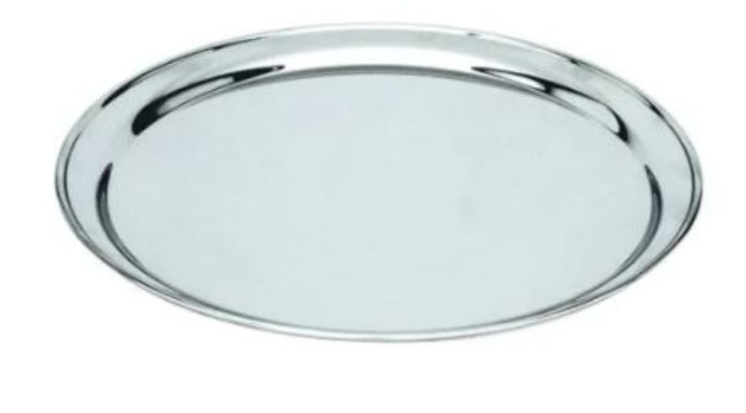 TRAY ROUND STAINLESS STEEL 35CM