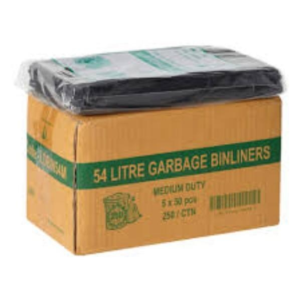 BAG GARBAGE H/DUTY 54 LTR PK 50 (CTN 250)