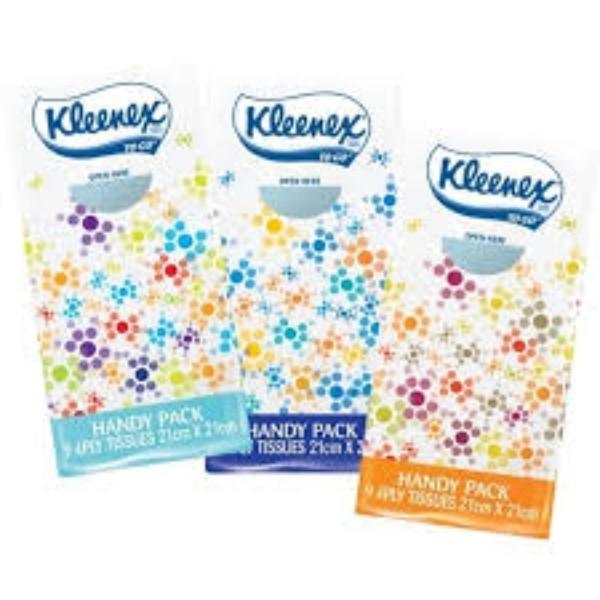 TISSUE FACIAL POCKET 4PLY PK 9 KLEENEX
