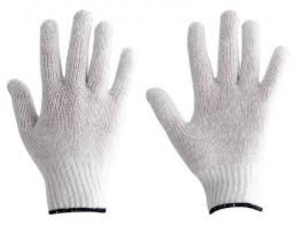 GLOVES KNITTED POLYCOTTON LARGE PAIR PROT/ALSAFE