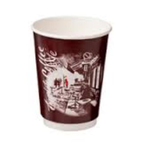 CUP 12oz COFFEE DOUBLE WALL CAFE MONT PK 25 (CTN 500)