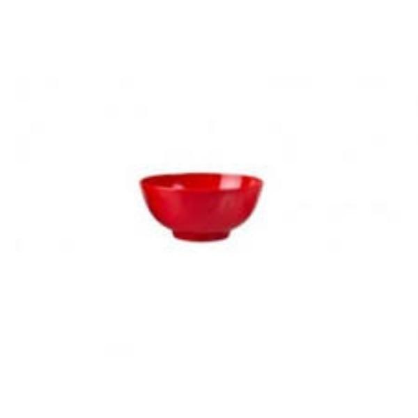 BOWL MELAMINE RED SQ 130X70