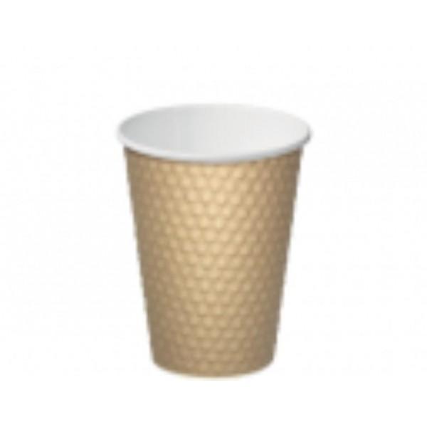 CUP 16oz BROWN DIMPLE PK 20 (CTN 300)