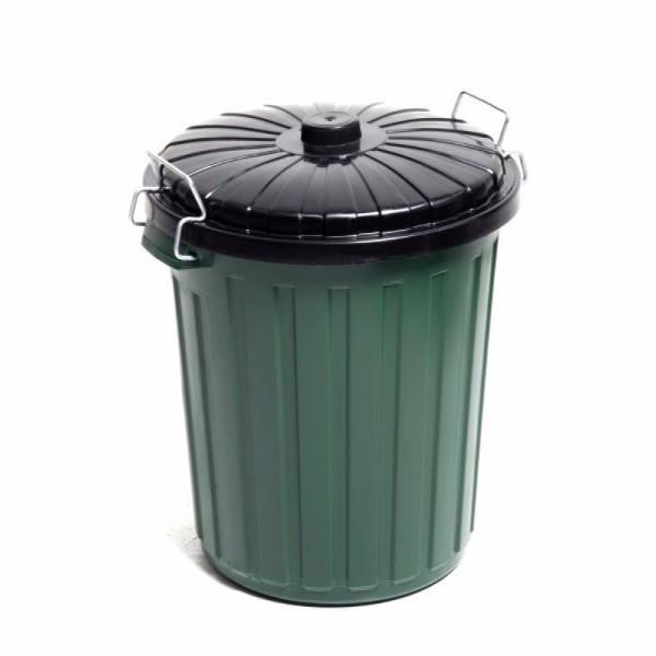 BIN GREEN 73LTR GARBAGE W/LID EDCO