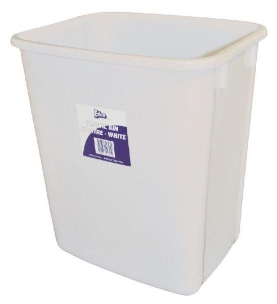 BIN 30LT WHITE PLASTIC (EDCO)
