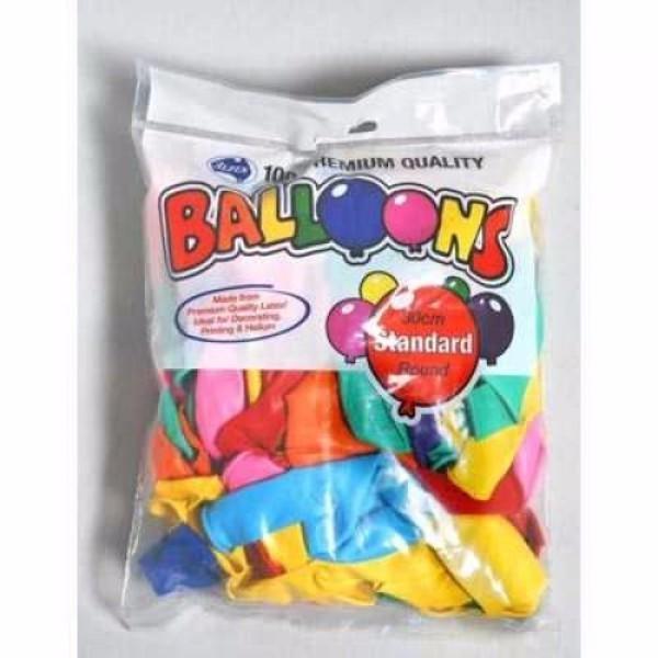 BALLOON 30CM MIXED STANDARD (100)
