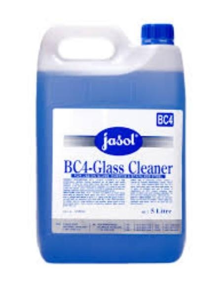 BC4 GLASS AND S/STEEL CLEANER 5LT JASOL