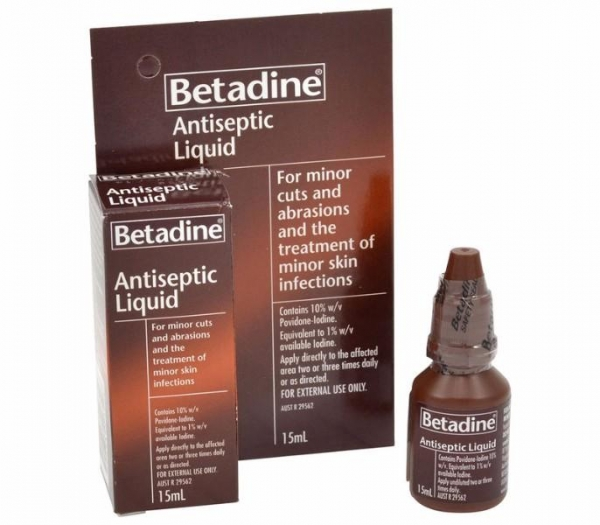 BETADINE LIQUID ANTISEPTIC 15ML AFAS