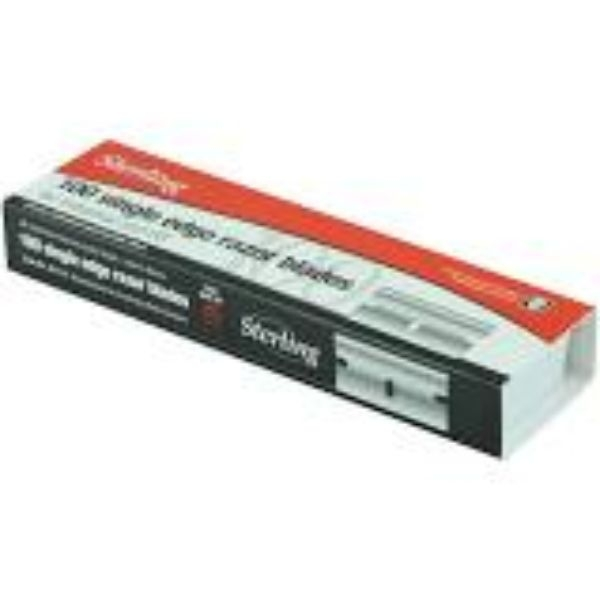 BLADE SINGLE EDGE SNAPPY STERLING (RED BOX 100)