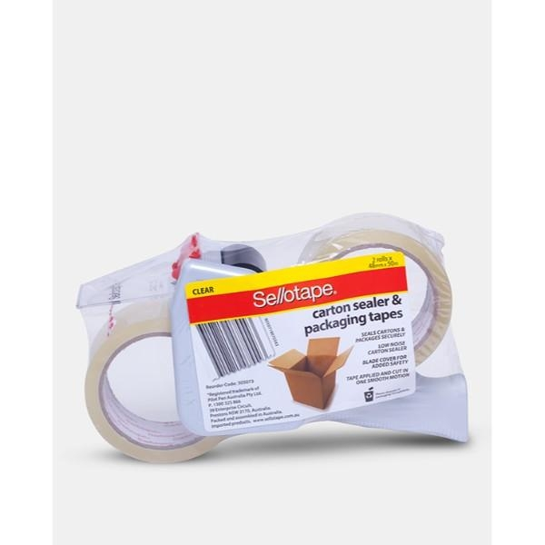 TAPE DISPENSER SELLOTAPE PISTOL GRIP  WITH TWO ROLLS TAPE