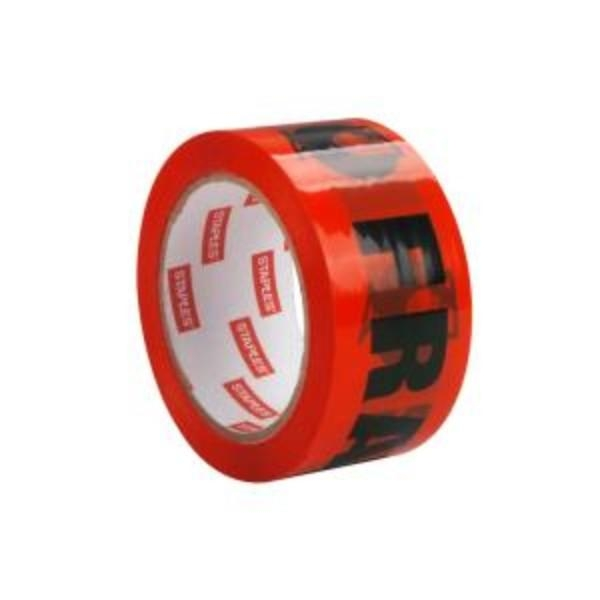 TAPE FRAGILE ORANGE ROLL 48mm x 66m EACH  (CTN36)