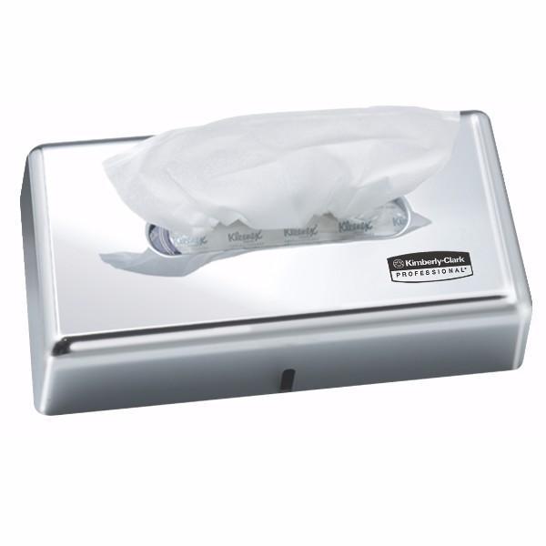 DISPENSER TISSUE CHROME LOCKABLE PLASTIC SUIT 100 TISSUE BOX