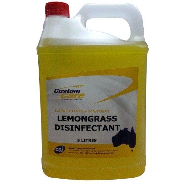 LEMONGRASS DISINFECTANT 5LTR CUST/CHEM