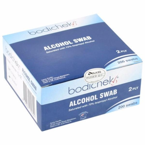 SWABS ALCOHOL WIPES BOX 200 AFAS (CTN 24)