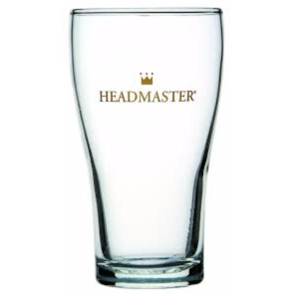 GLASS BEER CONICAL HEADMASTER 425ML (CTN 48)