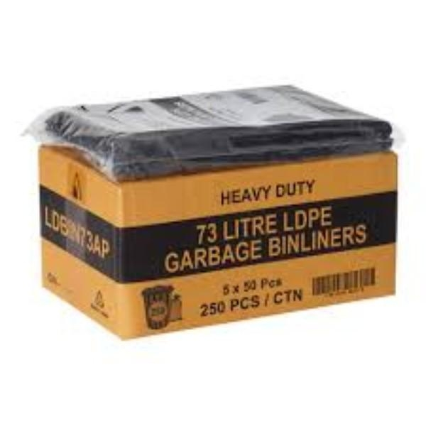 BAG GARBAGE 72-77LT HEAVY DUTY PK50  (CTN250)