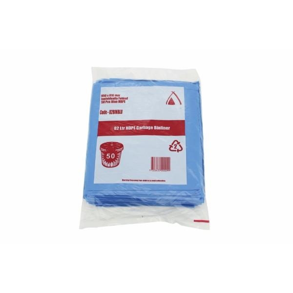 BAG GARBAGE 82ltr BIN BLUE ALL PURPOSE PK50 (CTN500)