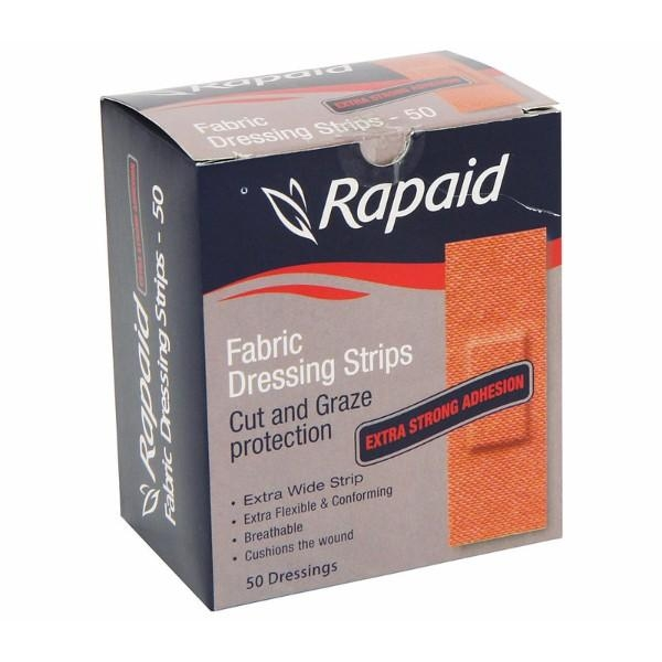 BANDAID RAPAID STRIPS FABRIC PK100 AFAS