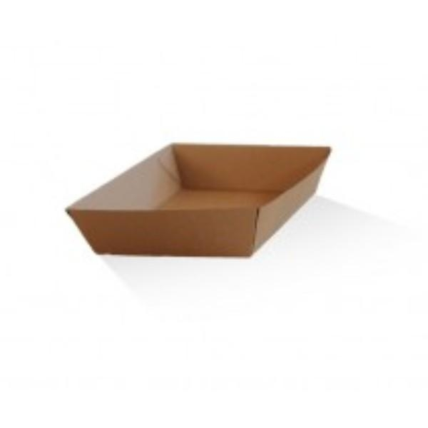 TRAY MEDIUM CORRUGATED (3) BROWN 180x134x45  PK25  (CTN300) - Click for more info