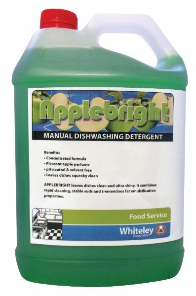 APPLE BRIGHT DISHWASHING LIQUID 5LT WHITELEY (CTN 3)