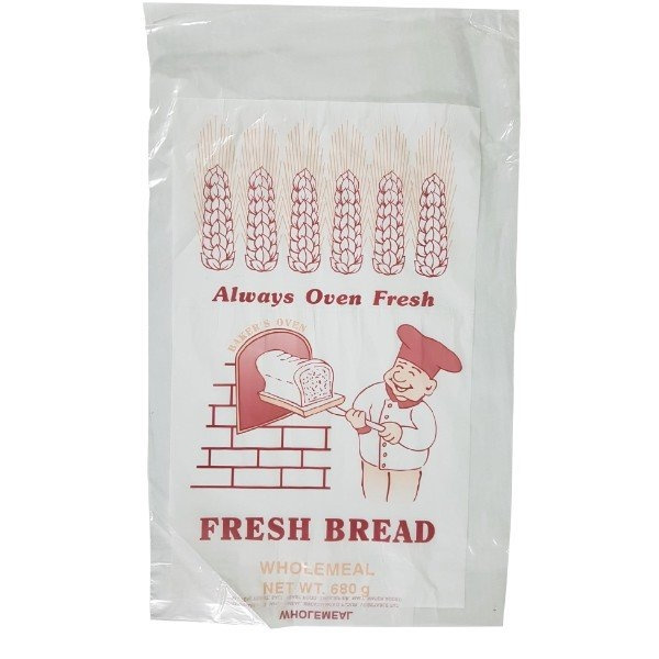 BAG BREAD ALWAYS OVEN FRESH WHOLEMEAL 680GM PKT100 (CTN2000)