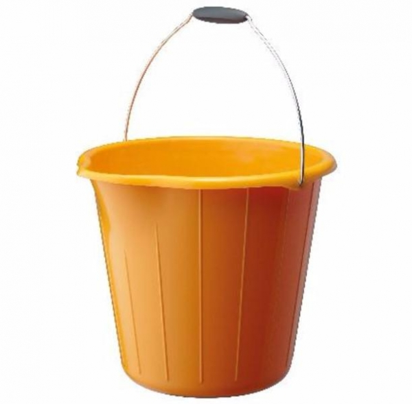 BUCKET 12LTR H/D ROUND YELLOW OATES