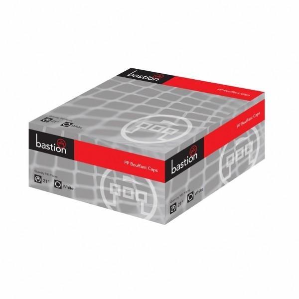 """CAPS PP BOUFFANT 21"""" BOX100 WHITE  (CTN1000)"""