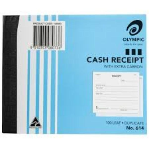 BOOK CASH RECEIPT DUPLICATE 614 each