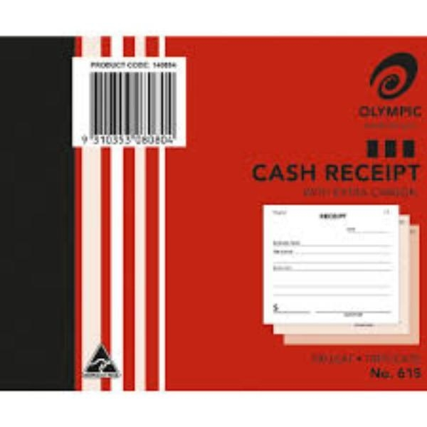 BOOK CASH RECEIPT TRIP 615 GEN/STAT