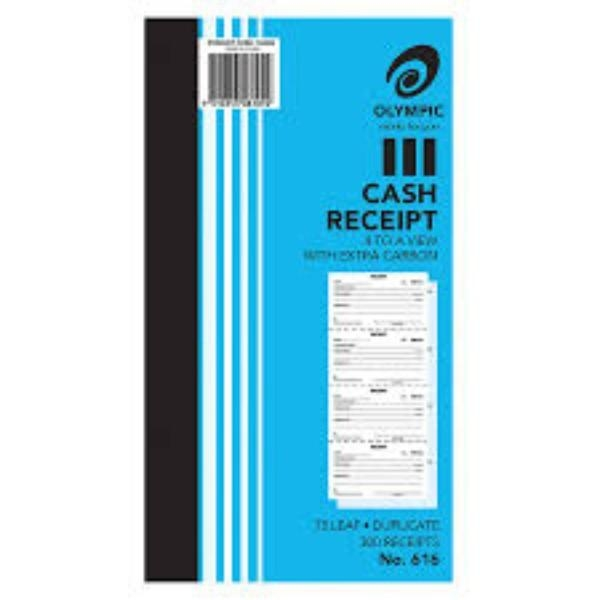 BOOK CASH RECEIPT DUP 616 GEN/STAT