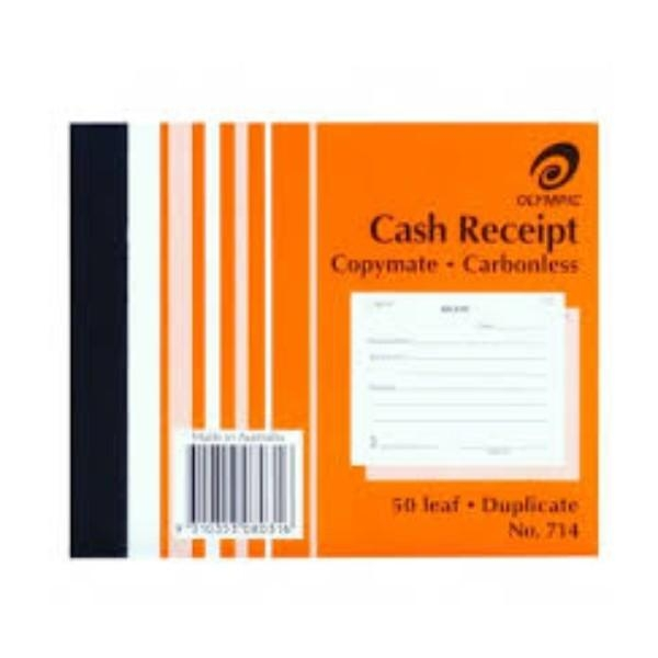 BOOK CASH RECEIPT DUPLICATE 714 EACH