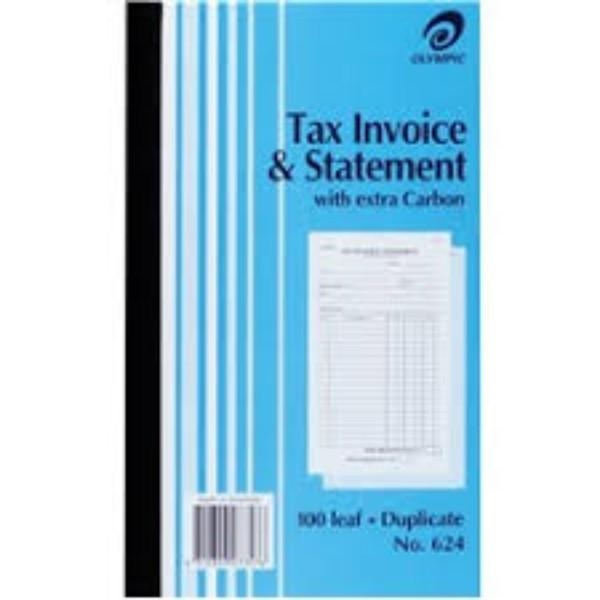 BOOK INVOICE DUP OLYMPIC 624 ea (pkt10)GEN/STAT