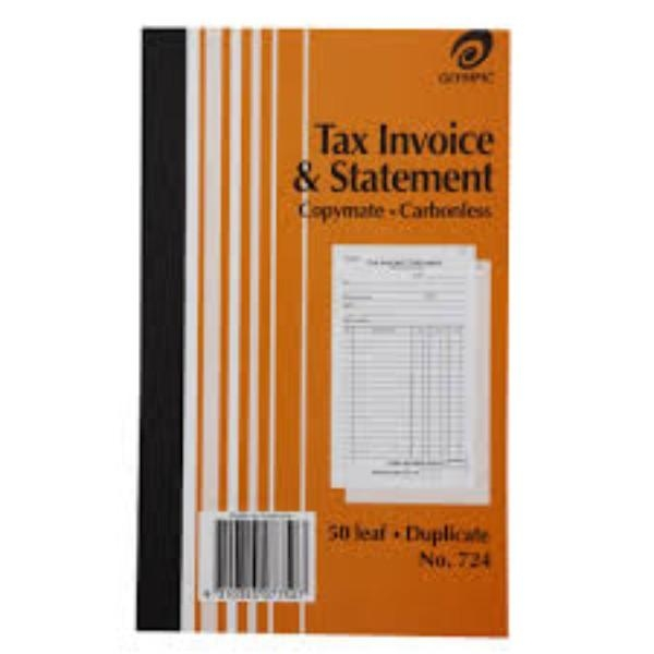 BOOK INVOICE DUPLICATE OLYMPIC 724