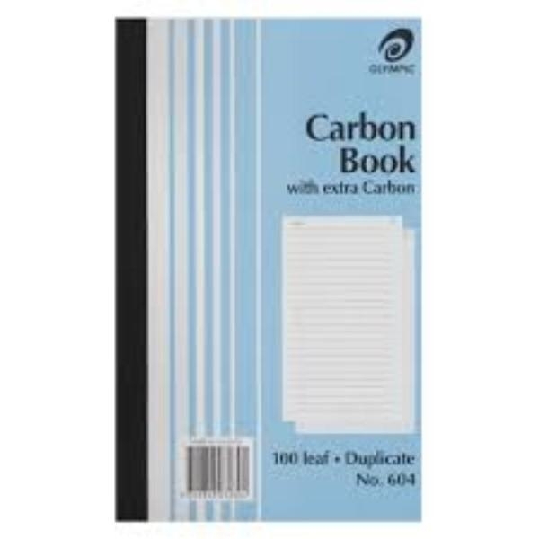 BOOK CARBON DUPLICATE OLYMPIC 604 EA (PKT 10)GEN/STAT