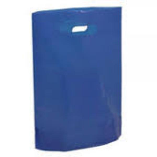 BAG POLY BOUTIQUE LGE DARK BLUE PK 100 530x415