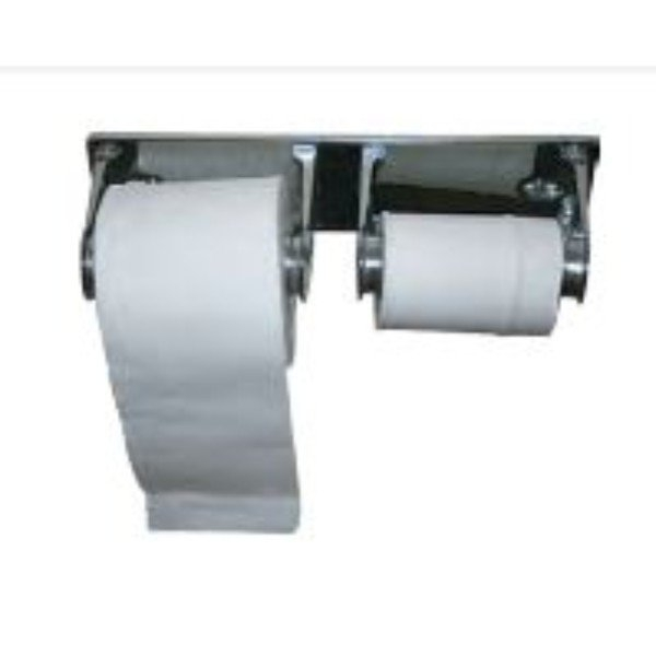 TOILET ROLL DISPENSER LOCKABLE DOUBLE CHROME PALLMALL