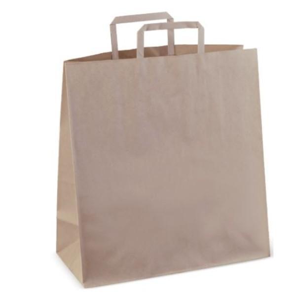 BAG BROWN CARRY LGE #75 F/H CTN250 DETPAK (340x320x145)