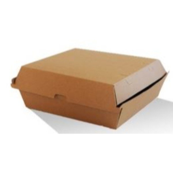 BOX DINNER BRN CORRUGATED CLAM PK 25 (CTN 150)