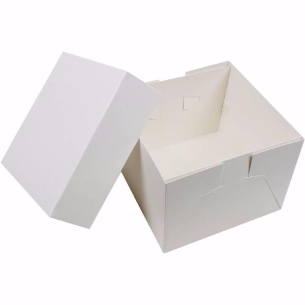 CAKE BOX 14x14x6 White PKT 50