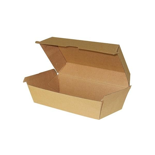BOX HOT DOG BRN CORRUGATED PK50  (CTN200)