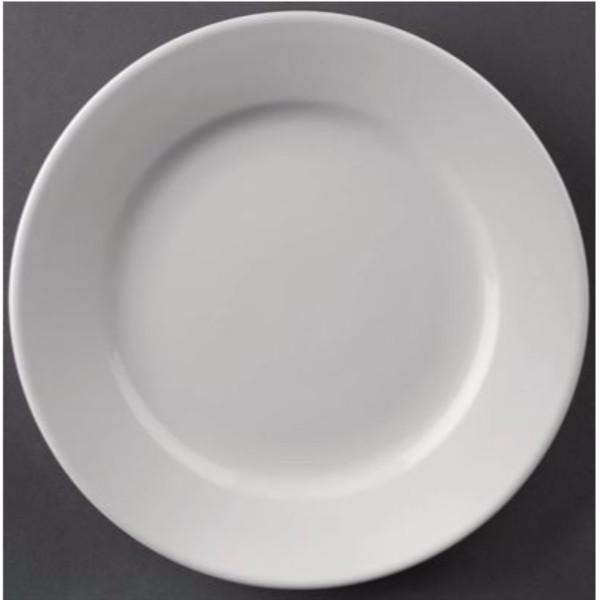 WIDE RIMMED PLATES 165MM BOX 12